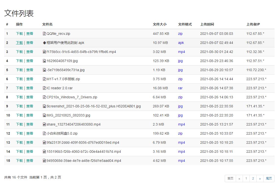 小白共享网盘系统源码V5.0插图