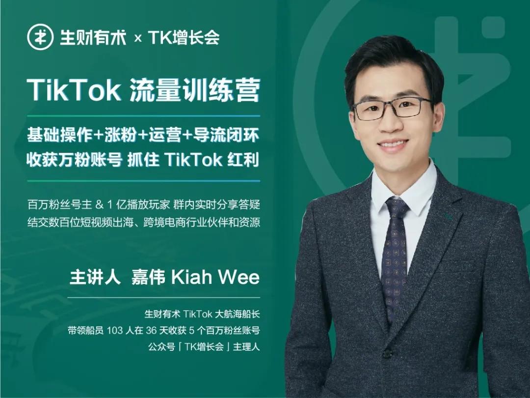 第三期TikTok总流量提高夏令营